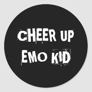 """""""Cheer Up Emo Kid"""" Stickers"""