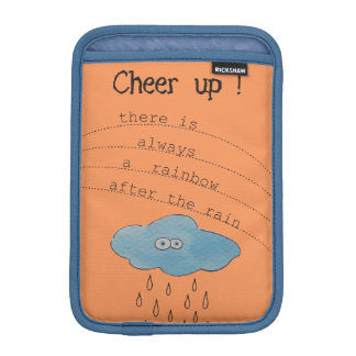 Cheer up! Funny Watercolor Painted Cloud Collage Sleeve For iPad Mini