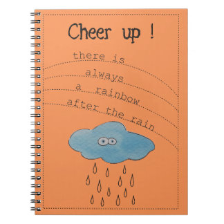 Cheer up! Funny Watercolor Painted Cloud Notebook