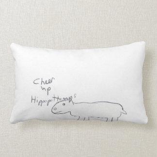 cheer up hippopottamas lumbar pillow