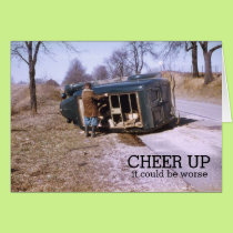 Cheer Up It Could Be Worse 1953 Truck Accident Card
