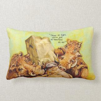 Cheer up throw pillows