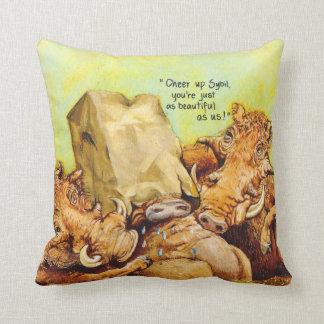 Cheer up throw pillow
