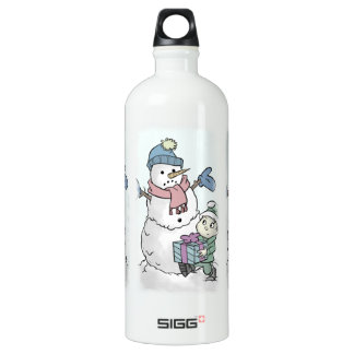 Cheer Up Snowman Water Bottle