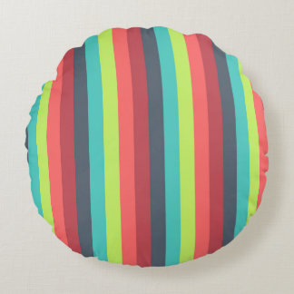 Cheer Up Striped Pattern Round Pillow