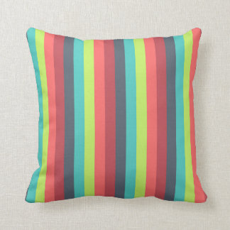 Cheer Up Striped Pattern Throw Pillow