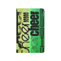 Cheer; Vibrant Green, Orange, & Yellow Journal