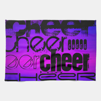 Cheer; Vibrant Violet Blue and Magenta Kitchen Towels