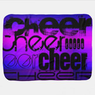 Cheer; Vibrant Violet Blue and Magenta Receiving Blanket
