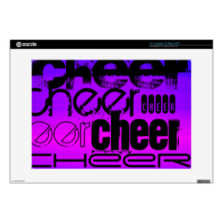 """Cheer; Vibrant Violet Blue and Magenta Skin For 15"""" Laptop"""