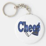 Cheer Zebra Style Basic Round Button Keychain