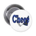 Cheer Zebra Style Button