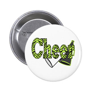 Cheer Zebra Style Buttons