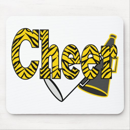 Cheer Zebra Style Mouse Pads