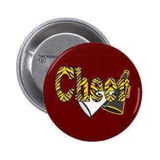 Cheer Zebra Style Pinback Button