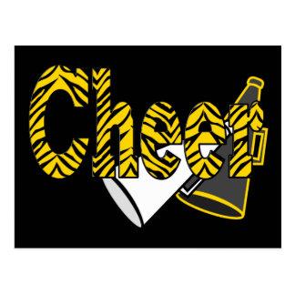 Cheer Zebra Style Postcard