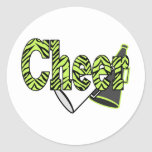 Cheer Zebra Style Stickers