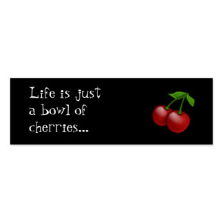 Cheerbomb MiniCard: Bowl of Cherries Double-Sided Mini Business Cards (Pack Of 20)