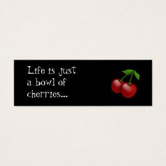 Cheerbomb MiniCard: Bowl of Cherries Mini Business Card