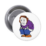 Cheerful, густный, and ridiculous pinback buttons