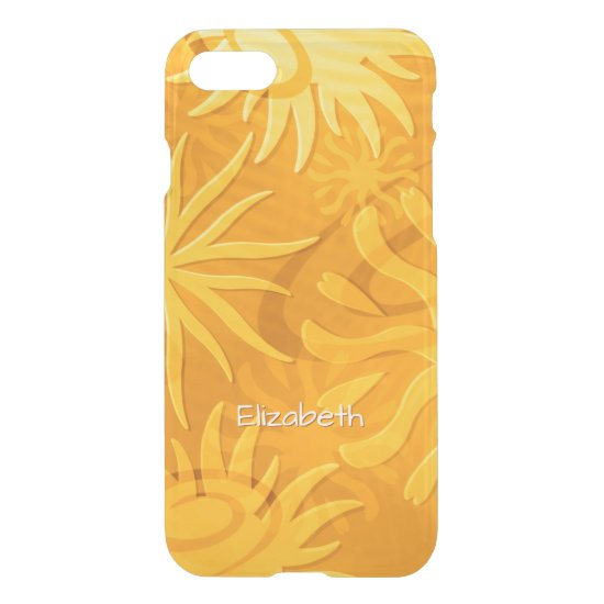 cheerful abstract sun shapes orange gold iPhone 7 case