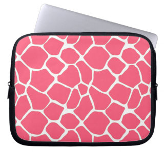 Cheerful adorable girly cute giraffe pattern computer sleeve