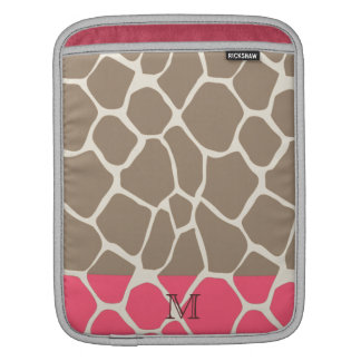 Cheerful adorable girly cute giraffe pattern sleeve for iPads