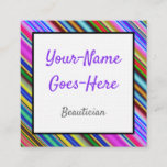 [ Thumbnail: Cheerful and Colorful Beautician Business Card ]