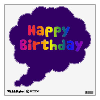 Cheerful and Fun Colorful Happy Birthday Custom Wall Sticker