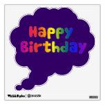 Cheerful and Fun Colorful Happy Birthday Custom Room Graphic