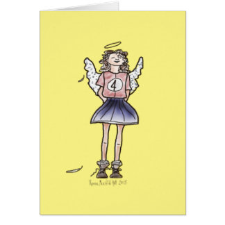 Cheerful Angel Number 4 Card
