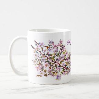 Cheerful Apple Blossom Blooms Acrylic Painting Coffee Mug
