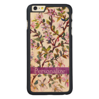 Cheerful Apple Blossom Flowers Acrylic Painting Carved® Maple iPhone 6 Plus Case