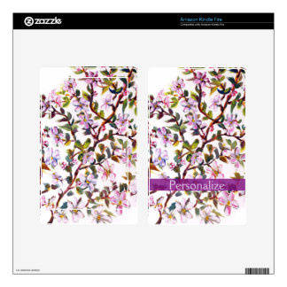 Cheerful Apple Blossom Flowers Acrylic Painting Kindle Fire Skins