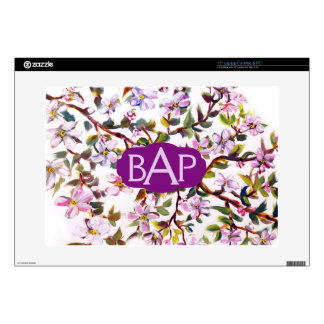 Cheerful Apple Blossom Flowers Acrylic Painting Laptop Skins