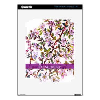 Cheerful Apple Blossom Flowers Acrylic Painting Skin For iPad 3