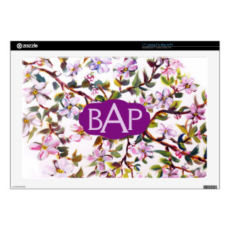 Cheerful Apple Blossom Flowers Acrylic Painting Skin For Laptop