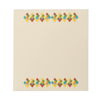 Cheerful Art Deco Notepad