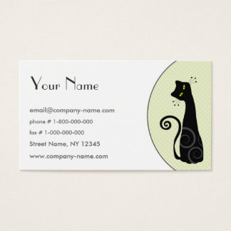 Cheerful Black Cat Business Card