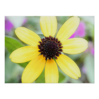 Cheerful Black Eyed Susan Posters