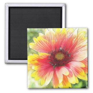 Cheerful Blanket Flower Bloom Magnet