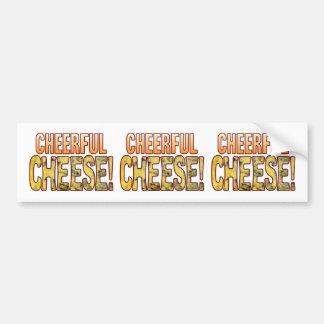 Cheerful Blue Cheese Bumper Sticker