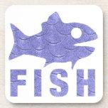 Cheerful blue fish coaster