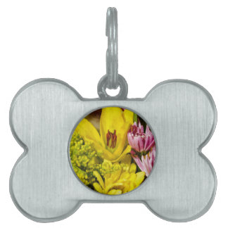 Cheerful Bouquet Painterly Pet ID Tag