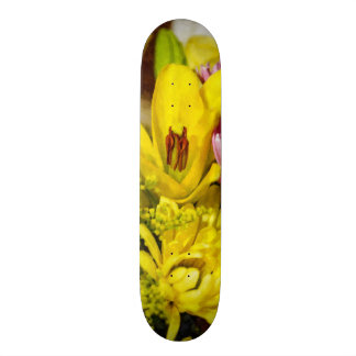Cheerful Bouquet Painterly Skateboard