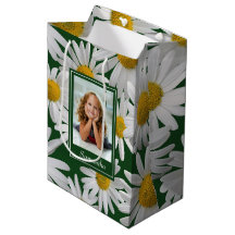 Glossy Daisy Flower Print Choose Size//Qty Present Gift Bags