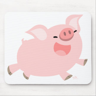 Cheerful Cartoon Pig mousepad