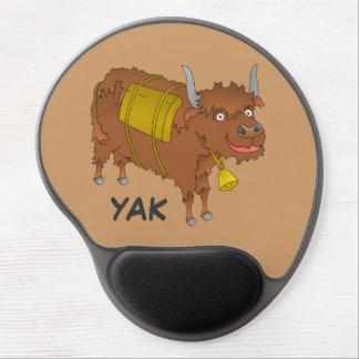 Cheerful cartoon yak gel mouse pad