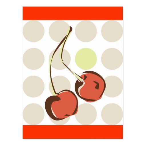 Cheerful Cherries Postcard