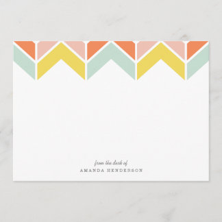 Cheerful Chevron Stationery Note Card